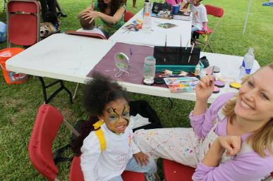 Ginger Face Painting at an event
